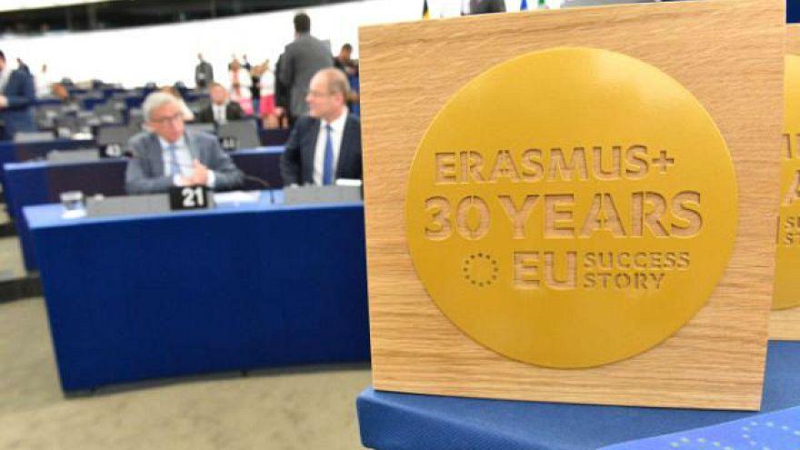 سی سالگی اراسموس، برنامه مبادله آزاد دانشجویان اروپایی