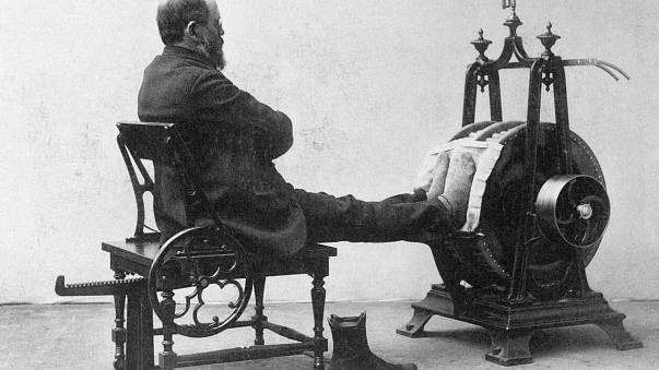 Ever wondered how people worked out a century ago? Check out photos here