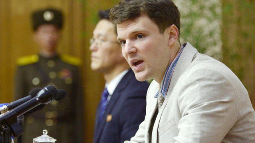North Korea frees US student Otto Warmbier 'in coma'