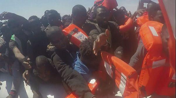 Más de 3000 refugiados rescatados en el Mediterráneo