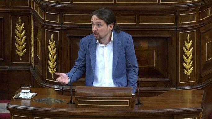 Encontronazo entre Rajoy e Iglesias en el debate de la moción de censura