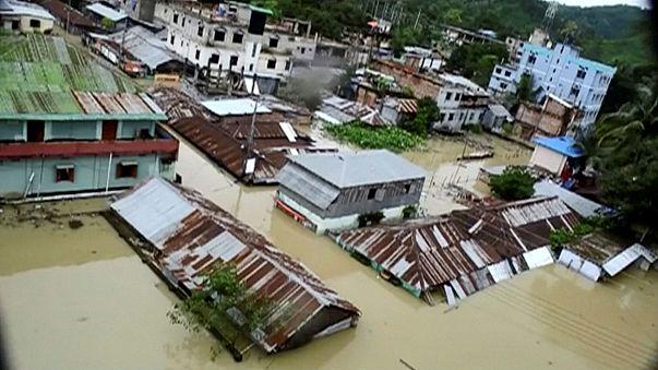 إنزلاقات التربة في بنغلادش توقع 134 قتيلا على الأقل