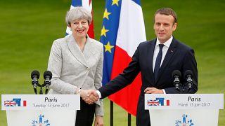 May und Macron: Gemeinsam gegen Terrorismus im Internet