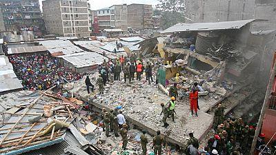 Kenya - Effondrement d'un immeuble : une femme et deux enfants retrouvés vivants