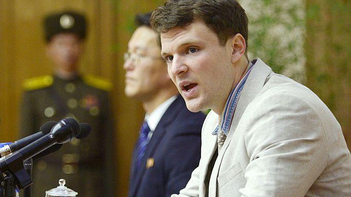 Avião com estudante libertado por Pyongyang aterra nos EUA