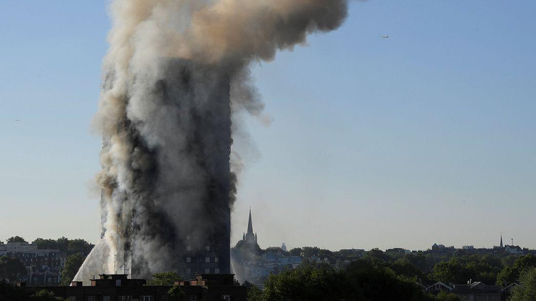 Londra'da gökdelen yangını: en az 6 ölü