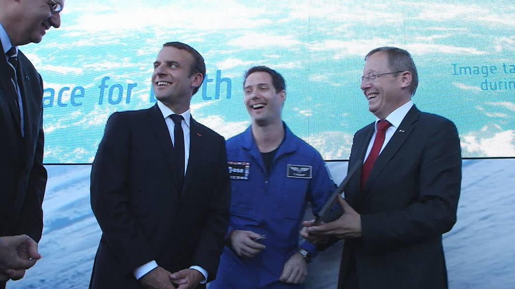 Pesquet joins ESA and NASA chiefs at Paris Air Show