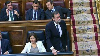 El Congreso español rechaza la moción de censura contra Rajoy