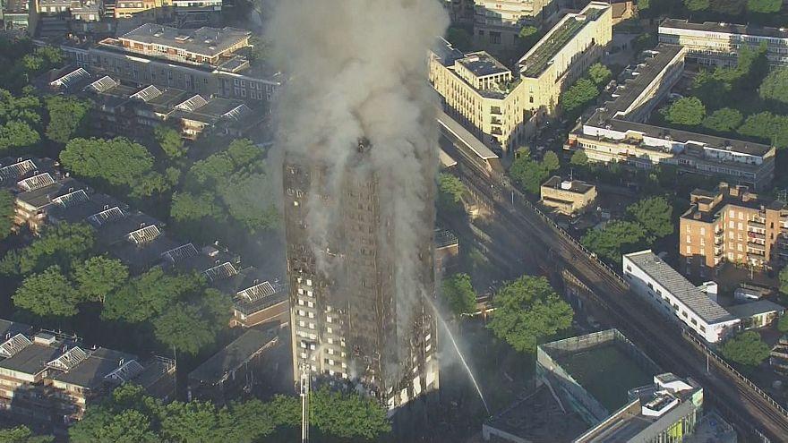"Flammeninferno in London: May ""tief betroffen"""