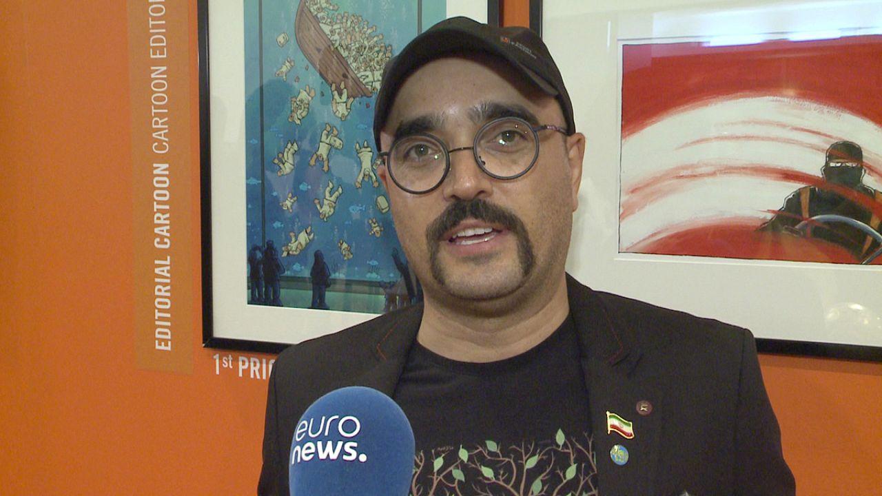 گفتگوی اختصاصی یورونیوز با علیرضا پاکدل، برنده دوازدهین دوره جشنواره «ورد پرس کارتون»
