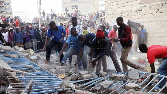 7-storey building collapses in Kenya [no comment]