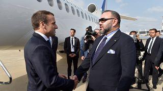 ماكرون يصل إلى المغرب لتمتين العلاقات بين البلدين