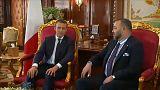 Emmanuel Macron reçu par Mohammed VI