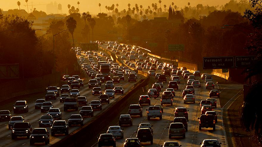 Image: Traffic clogs the 101 Freeway in Los Angeles on Aug. 29, 2014.