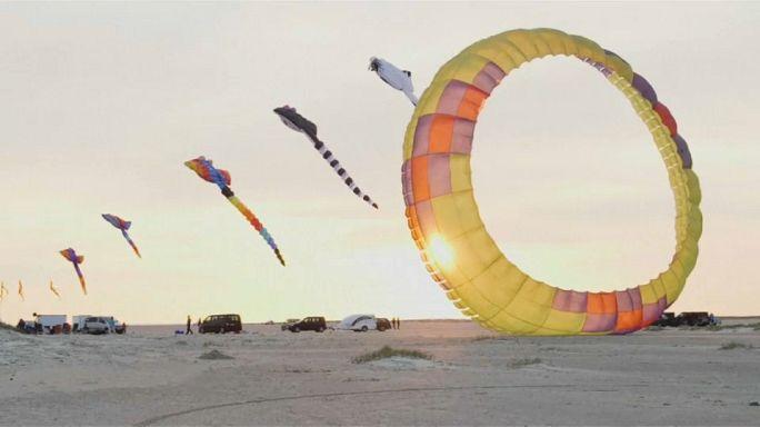 Dänemark: Tausende Drachen fliegen