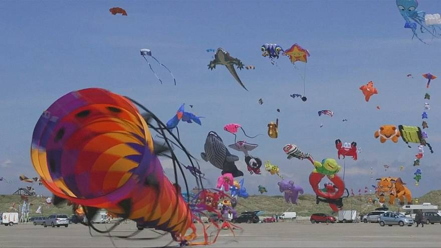 Thousands of kites fill the sky for annual festival