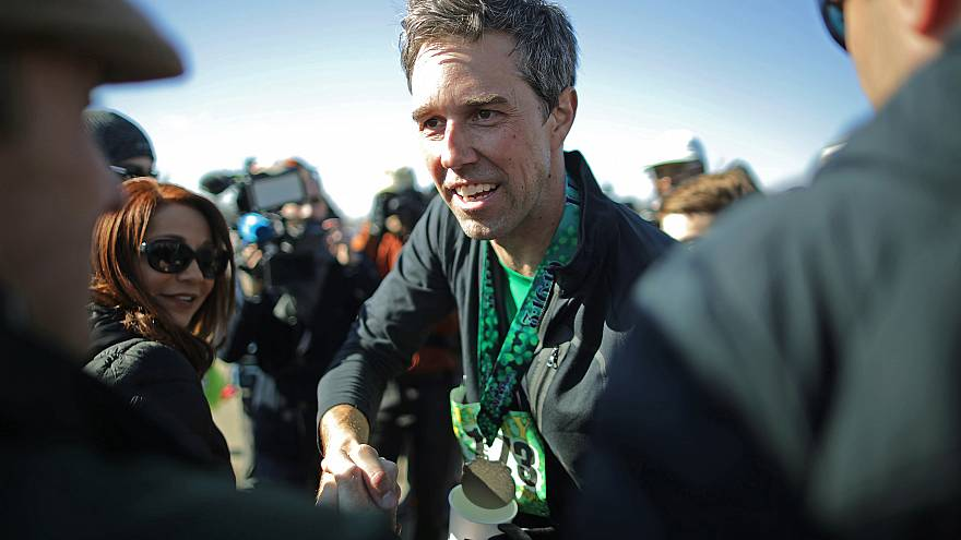 Image: Beto O'Rourke Begins First Campaign Swing In Iowa As A Presidential