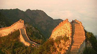 I muli e il restauro della Grande Muraglia