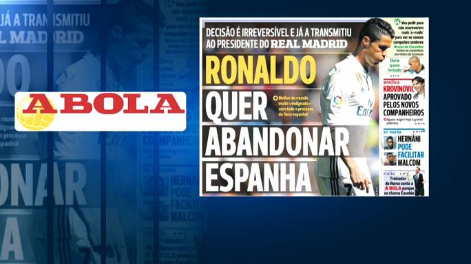 Calcio: secondo la stampa portoghese, Ronaldo lascerà il Real Madrid