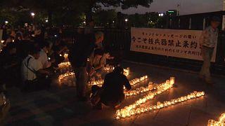 Manifestación en Hiroshima a favor de la prohibición de armas nucleares