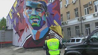 Ronaldo'nun grafitisi Rusya semalarında