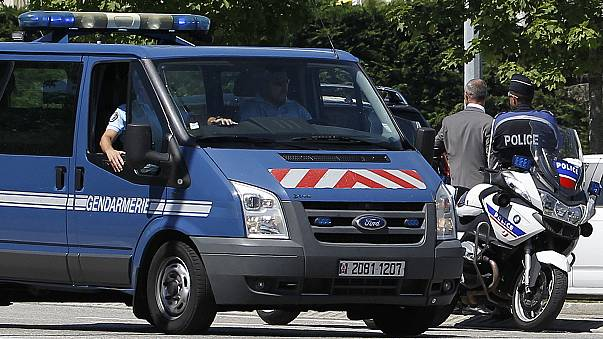 France: police set up security cordon and evacuate residents after finding a car stuffed with gas canisters in Chasse-sur-Rhone, near Lyon