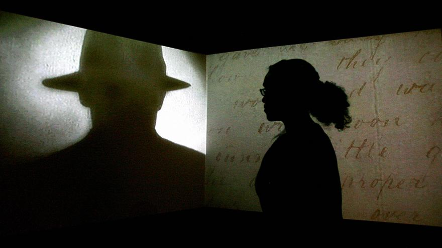 """Image: A projection is displayed during the """"Jack the Ripper and the East E"""