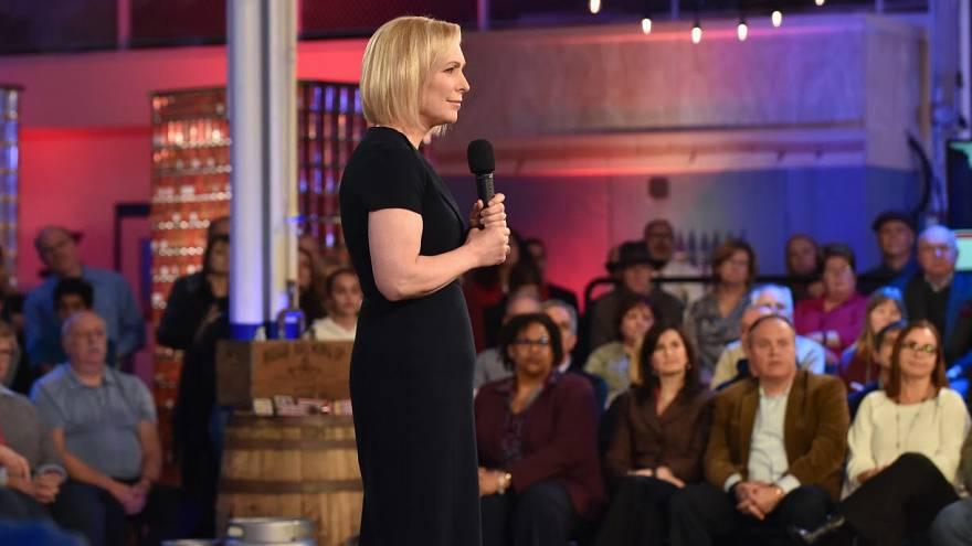Image: Sen. Kirsten Gillibrand speaks at a town hall with MSNBC's Chris Hay