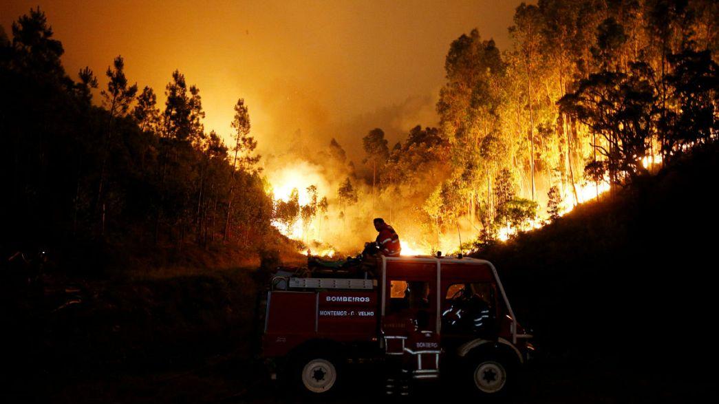 Hatalmas erdőtűz Portugáliában