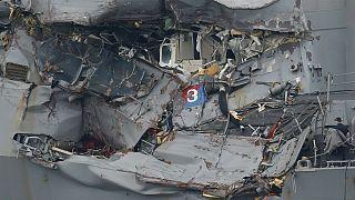 العثور على جثث بحارة أميركيين فقدوا خلال اصطدام مع سفينة شحن قبالة السواحل اليابانية