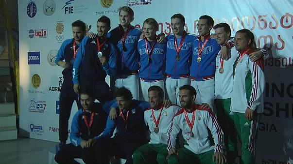 Gold and silver team medal haul for Russia in European Fencing Championships