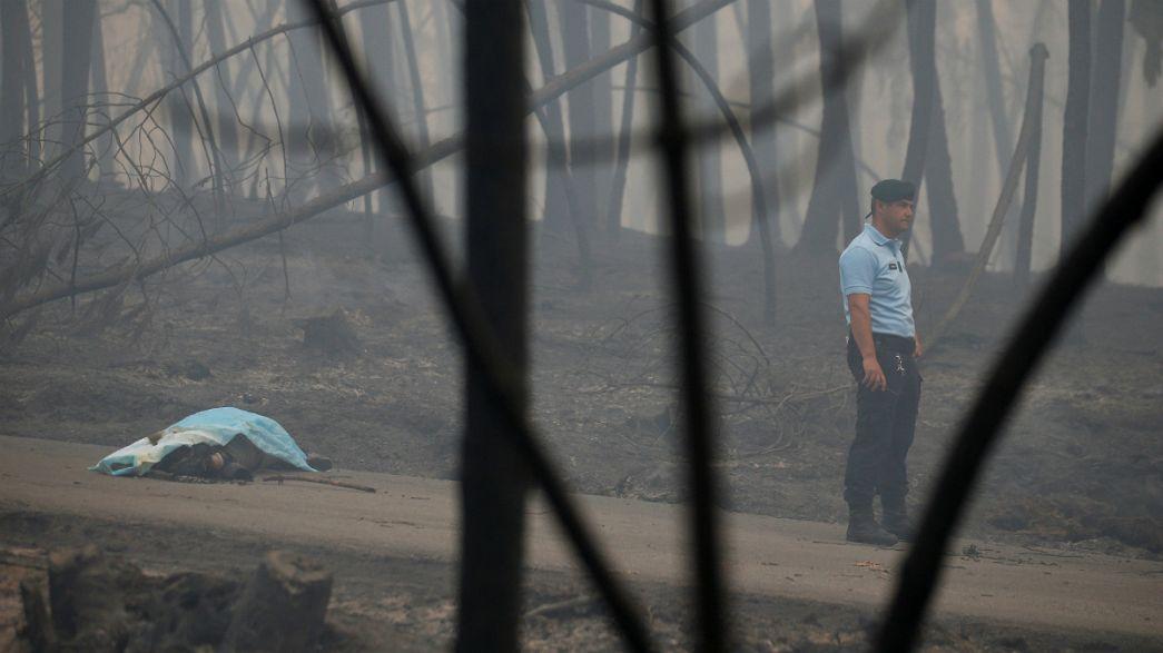 عشرات القتلى والجرحى بسبب الحرائق في البرتغال