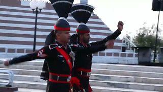 Cérémonie de fermeture de la frontière au Pakistan