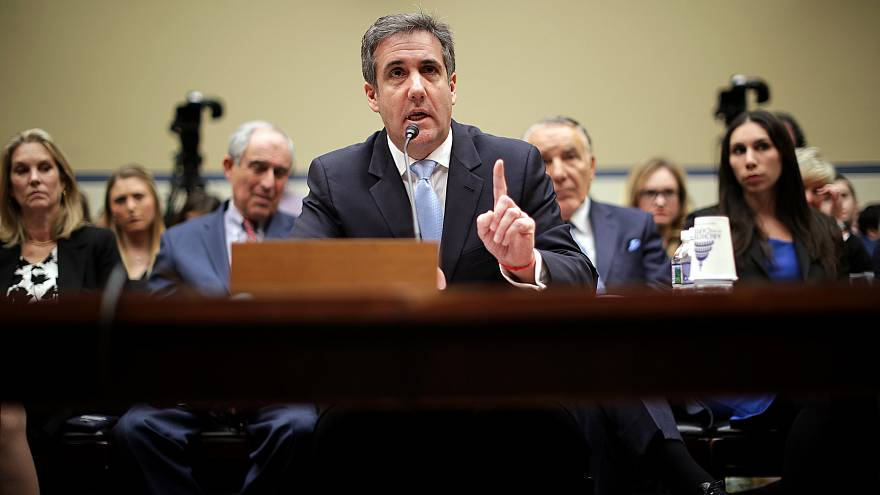 Image: Michael Cohen, former attorney to President Donald Trump, testifies