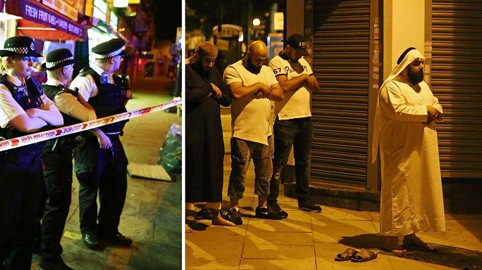 Фургон врезался в толпу у мечети на севере Лондона; несколько человек ранены, один арестован