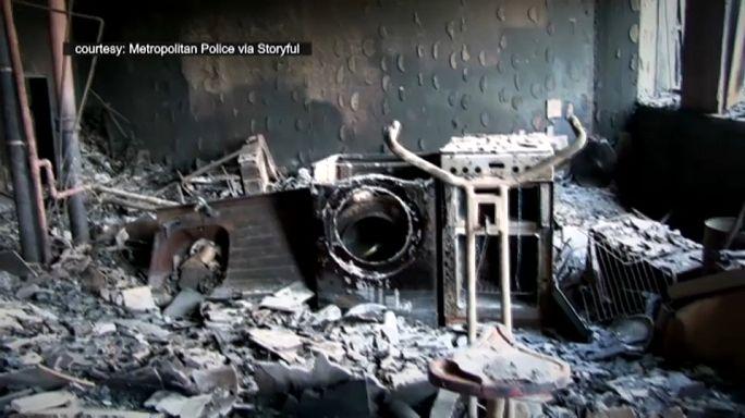 Полиция Лондона сняла видео в сгоревшей многоэтажке