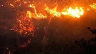 خسائر الحرائق بوسط البرتغال