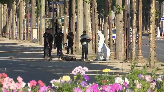 Champs Elysees attack: suspect killed after ramming car into police van