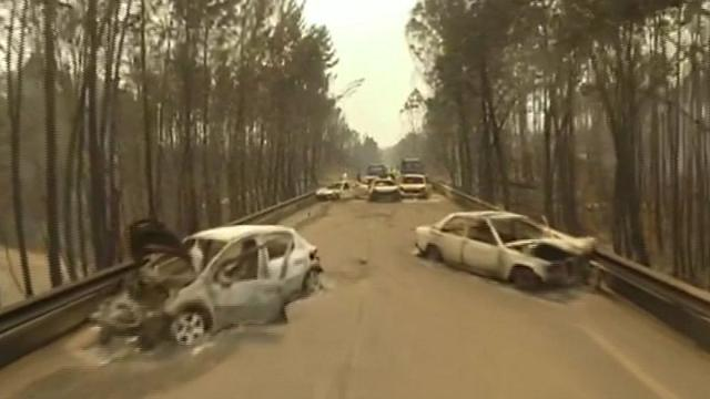 Watch: Drone footage shows aftermath of Portugal's deadly wildfire