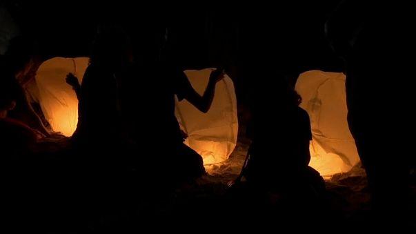 Fenerler Gazze semalarını aydınlattı