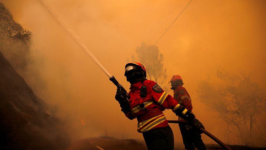 Les ravages de l'incendie dan le centre du Portugal