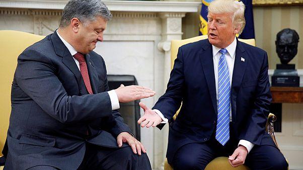 Ukrayna Cumhurbaşkanı Poroshenko Beyaz Saray'da