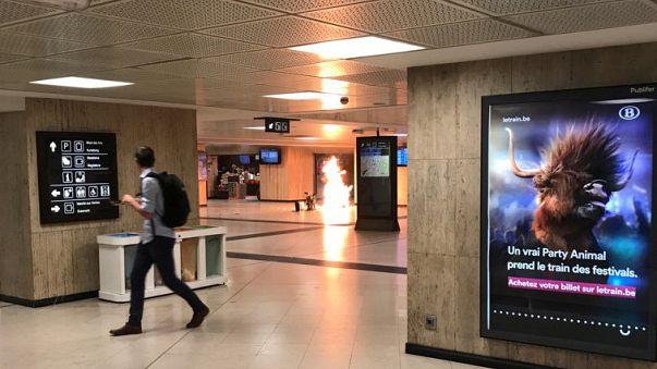 Abatido o terrorista da Gare Central de Bruxelas