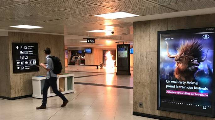 Belgian troops shoot suspected suicide bomber