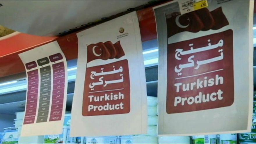 Katar'da süpermarket raflarını Türk ürünleri doldurdu
