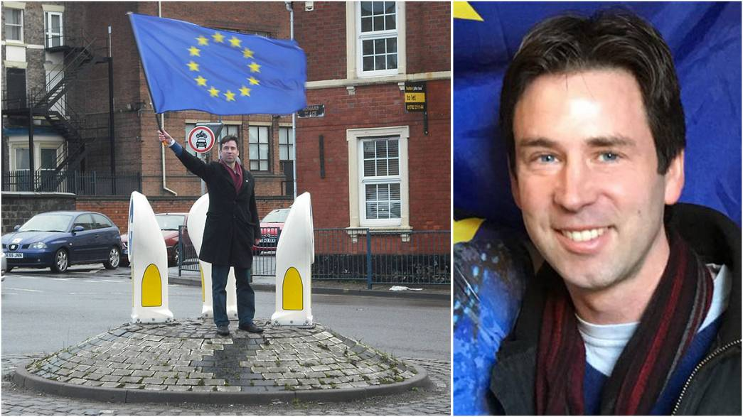 Meet the Englishman battling Brexit with just a flag