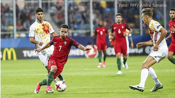 EuroSub21: Portugal sem finalizador perde (1-3) com a Espanha