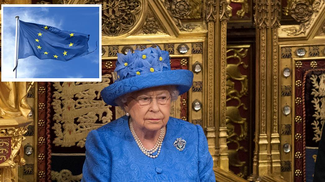 Are EU against Brexit, m'am? Queen's outfit sparks remain debate