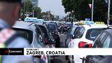 Uber Hırvatistan'da protesto edildi