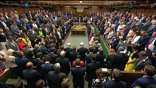 Rare moment of unity as UK parliament joins for minute's silence